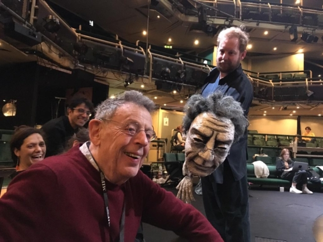 Philip Glass meets his puppet